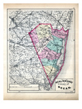 1873  Ocean County Map  New Jersey  United States