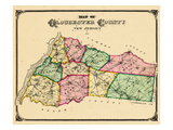 1876  Gloucester County Map  New Jersey  United States