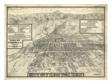 1909  Colorado Springs Bird's Eye View  Colorado  United States