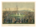 1860  Boxing Match International Contest Between Heenan and Sayers at Farnborough