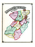 1876  Middlesex County Map  New Jersey  United States