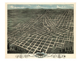1871  Atlanta Bird's Eye View  Georgia  United States