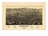 1882  Colorado Springs 1882c Bird&#39;s Eye View  Colorado  United States