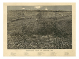 1887  Denver Bird's Eye View  Colorado  United States