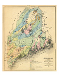 1884  Maine Geological Map  Maine  United States