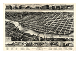 1886  Columbus Bird's Eye View  Georgia  United States
