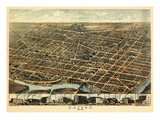 1870  Dayton Bird's Eye View  Ohio  United States