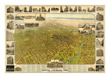1908  Denver Bird's Eye View  Colorado  United States