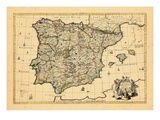 1710  A correct map of Spain and Portugal according to the newest observations