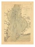 1779, Une carte de la baie du Delaware Giclée