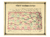 1879  Railroad Map  Kansas  StateUnited States