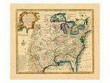 1747, Etats-Unis, Louisiane, Floride et Canada Giclée