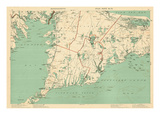 1891, Cape Cod, Plymouth, Barnstable, Falmouth, Mashpee, Bourne, Marion, Massachusetts, USA Giclée