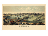 1876  Toledo Bird's Eye View  Ohio  United States