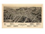 1891  Durham Bird's Eye View  North Carolina  United States
