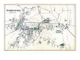 1876, Norwood Town, Massachusetts, United States Giclée
