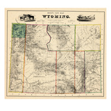 1883  Wyoming 1883 State Map  Wyoming  United States