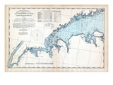 1893  United States Coast Survey - New York to Norwalk Islands - Long Island Sound  Connecticut  US