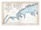 1893  United States Coast Survey - New York to Norwalk Islands - Long Island Sound  Connecticut  US
