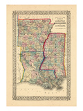 1867  Arkansas  Louisiana  Mississippi