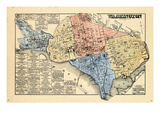 1878  District of Columbia - Washington DC Map  White House  Capitol Building  Smithsonian  USA