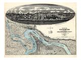 1863  Vicksburg Bird's Eye View  Mississippi  United States