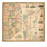 1860  Lawrence and Beaver Counties Wall Map 1860  Massachusetts  United States