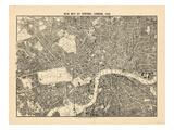 Carte du centre de Londres, 1892 Giclée