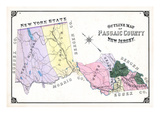 1877  Passaic County Outline Map  New Jersey  United States