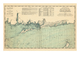 1893  United States Coast Survey - Niantic Bay to Rocky Point - Long Island Sound  Connecticut  Uni