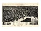 1887  Selma Bird's Eye View  Alabama  United States