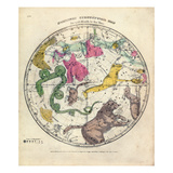 1835  Circumpolar Map Northern  Constellations