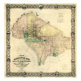 1857  Washington DC Wall Map  District of Columbia  United States