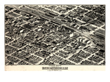 1903  Birmingham Bird's Eye View  Alabama  United States