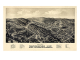 1888  Hot Springs Bird's Eye View  Arkansas  United States