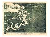 1891  Puget Sound Bird's Eye View  Washington  United States