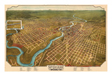 1905  Spokane Bird's Eye View  Washington  United States