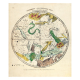 1835  Circumpolar Map Southern Constellations