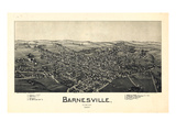1899  Barnesville Bird's Eye View  Ohio  United States