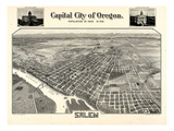 1905  Salem Bird's Eye View  Oregon  United States