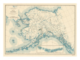 1941  Alaska State Map  Alaska  United States