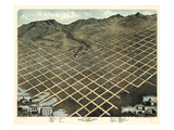 1870  Salt Lake City Bird's Eye View  Utah  United States