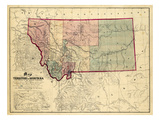 1865  Montana Wall Map  Montana  United States