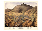 1875  Virginia City Bird's Eye View  Nevada  United States