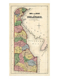 1868  Delaware State Map  Delaware  United States
