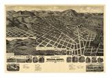 1890  Helena Bird's Eye View  Montana  United States