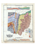 1875  Ohio State Geological Map  Ohio  United States