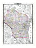 1899  State Map  Wisconsin  United States