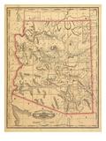 1887  Arizona State Map  United States