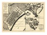 1720  New Orleans Bird's Eye View  Louisiana  United States